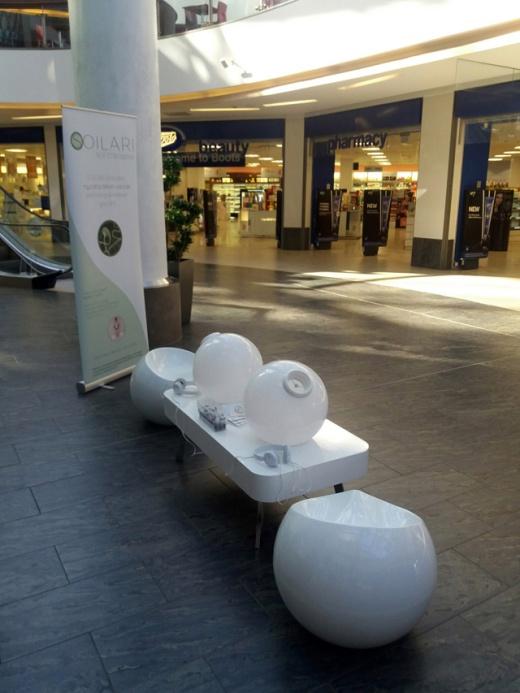 Soilari installation in shopping centre, Glasgow